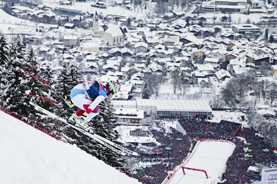 Beat Feuz during the Hahnenkamm Race in Kitzbuehel, Austria. by Red Bull Photography on 500px.com