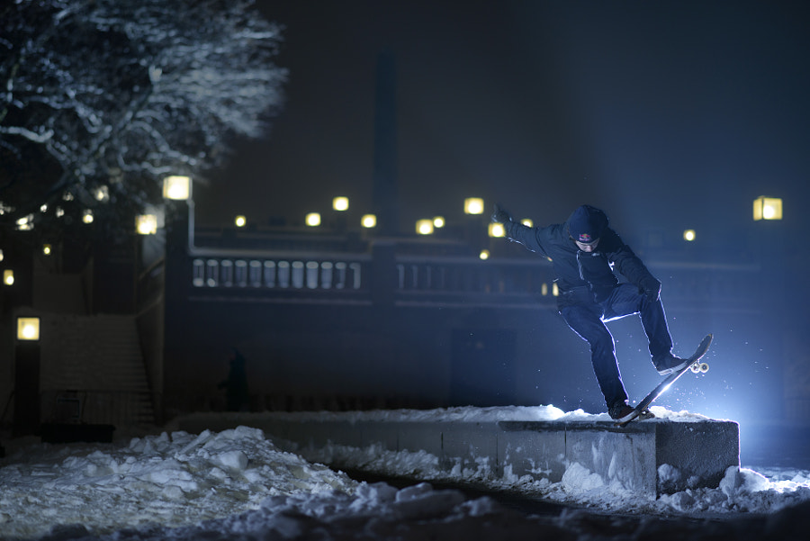 Gard Hvaara Performs During the Winter Project in Oslo, Norway. by Red Bull Photography on 500px.com