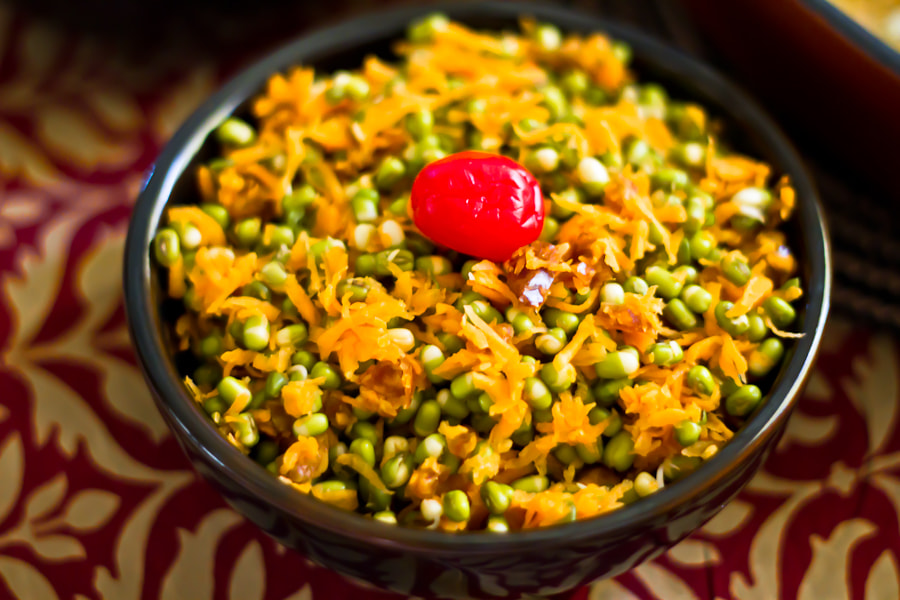 Photograph carrot, Sprouts and date salad. by Swaminathan iyer on 500px