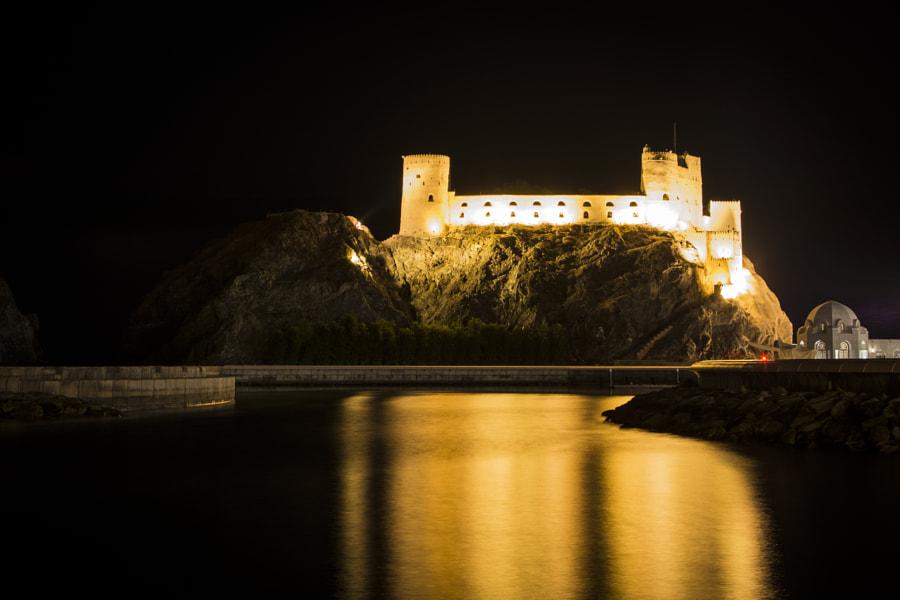 Nightshot of Al Jalaili Fort