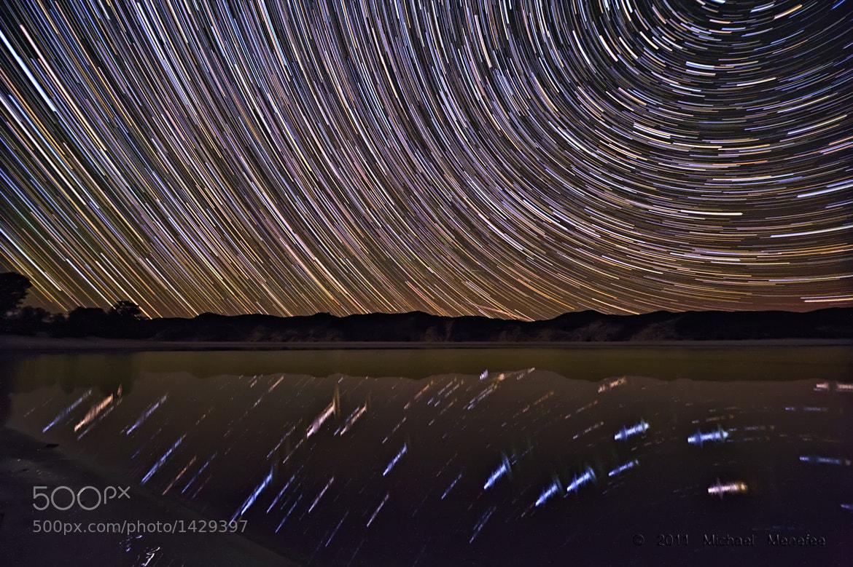 Photograph Merrit Dam Reservoir Dipper Trails by Michael Menefee on 500px
