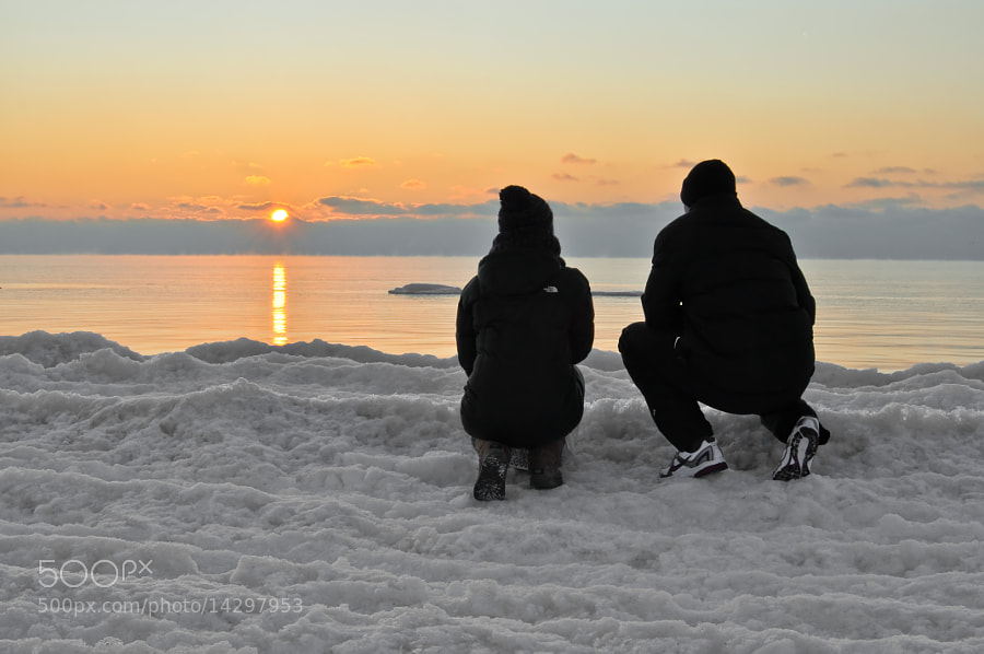 Photograph Sunset in Liepaja Frozen Beach by Jose Antonio Castellanos on 500px