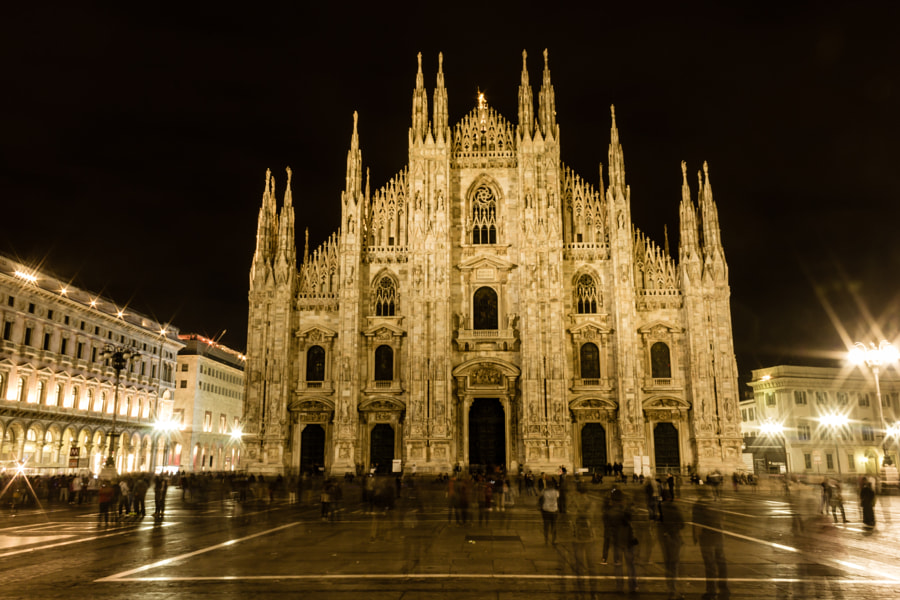 Milano at night by Azri Ayob on 500px.com