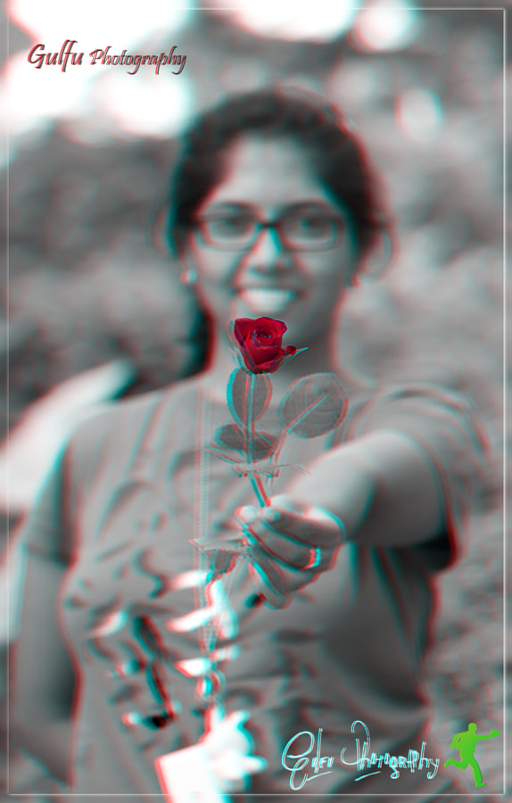 Requires 3d anaglyph glasses(red & cyan) to view the photo