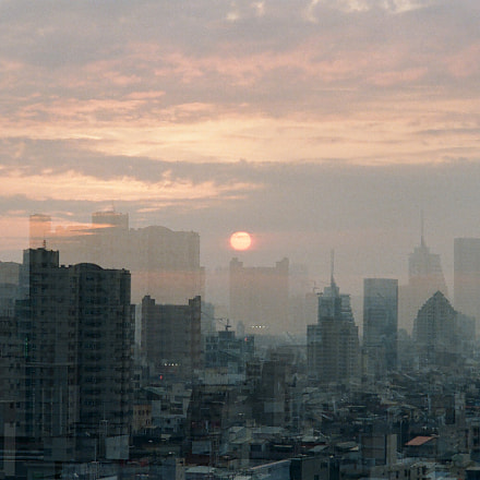 The sunset of Tainan, Nikon FM3A