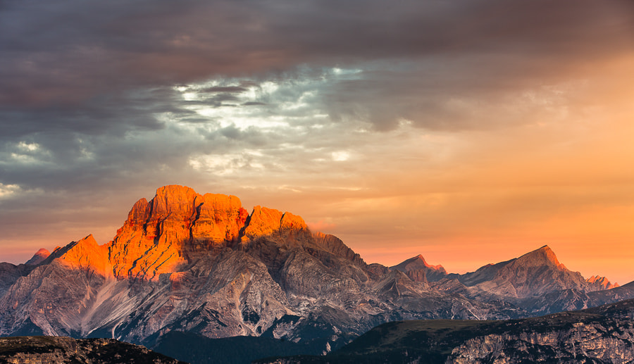 """<a href=""""http://www.hanskrusephotography.com/Landscapes/Dolomites/18016000_V9vFgv#!i=2100804567&k=8Gt5RgW&lb=1&s=A"""">See a larger version here</a>  This photo was taken during a photo workshop in the Dolomites September 2012."""