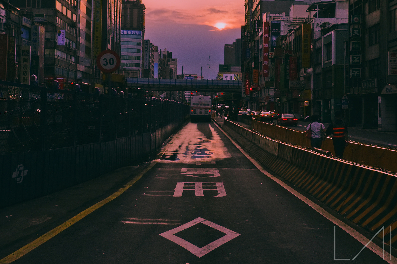 Photograph Sunset? Sunrise? Bus Lane. by Atmosphere Light on 500px