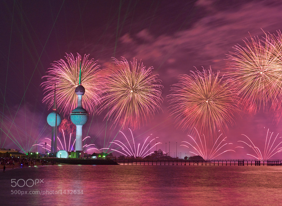 Fireworks at Kuwait Towers