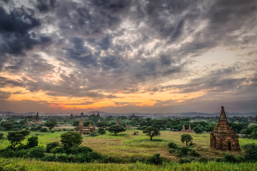 Temple Dusk - Bagan, Myanmar