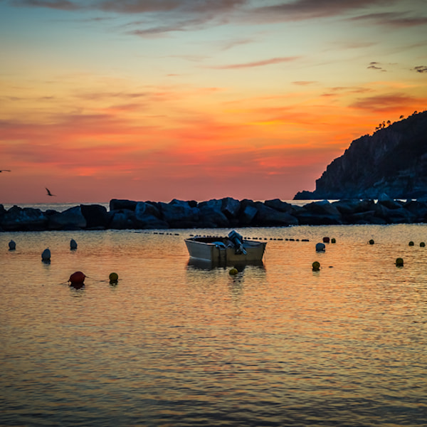 Sunset at Moneglia, Italie