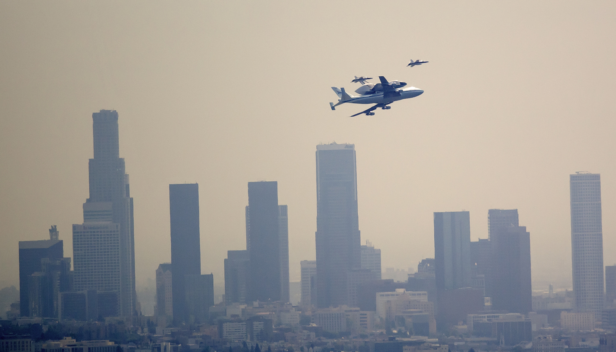 Photograph Endeavour over downtown L.A. by Gilad Rom on 500px