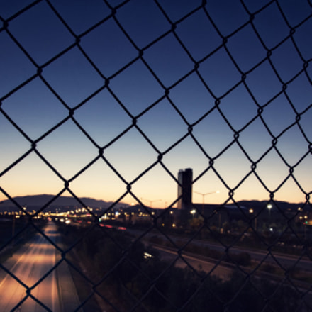 fence of city, Canon EOS M2