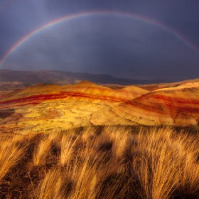 """DESERT RAINBOW"" by James Fougere (WhistlerDiscoveryTours)) on 500px.com"