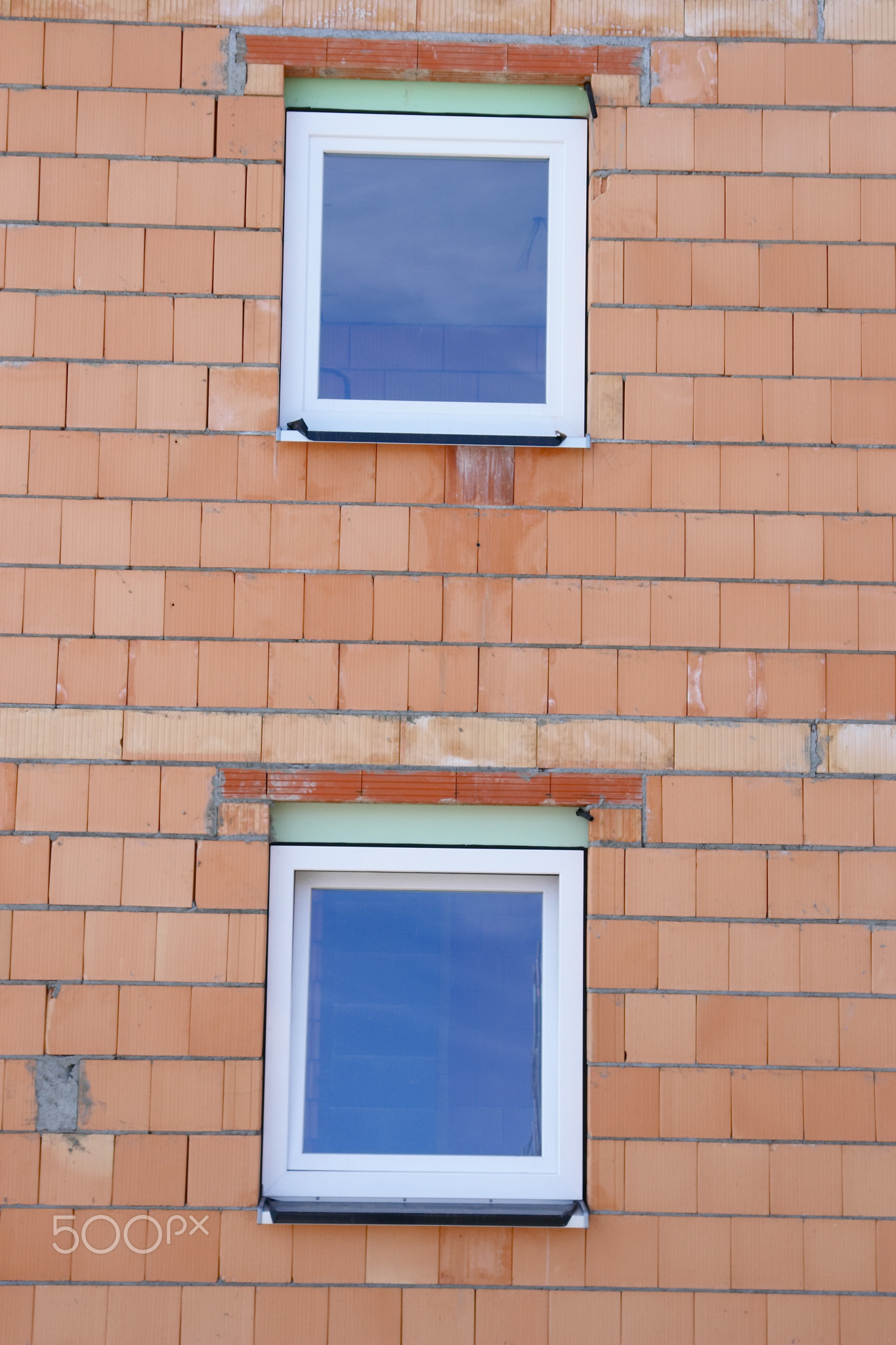 wall house building site bricks