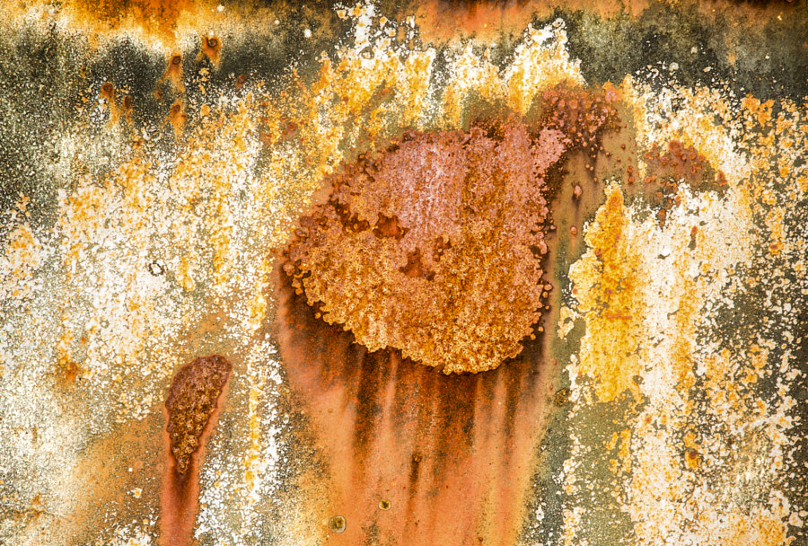 Rust and flaking paint 1