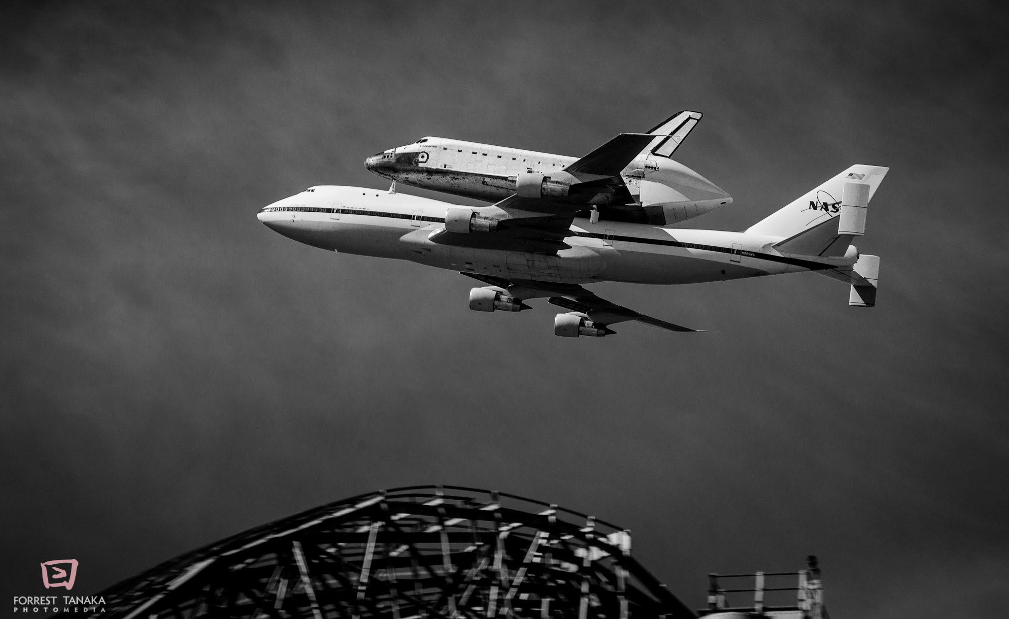 Photograph Space Shuttle Endeavour Flyover of NASA Ames by Forrest Tanaka on 500px