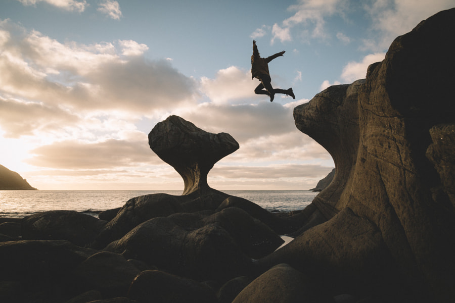 Jumping into sunset by Johannes Hulsch on 500px.com
