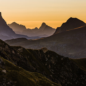 Morning Light at Passo Padon by Hans Kruse (hanskrusephotography)) on 500px.com