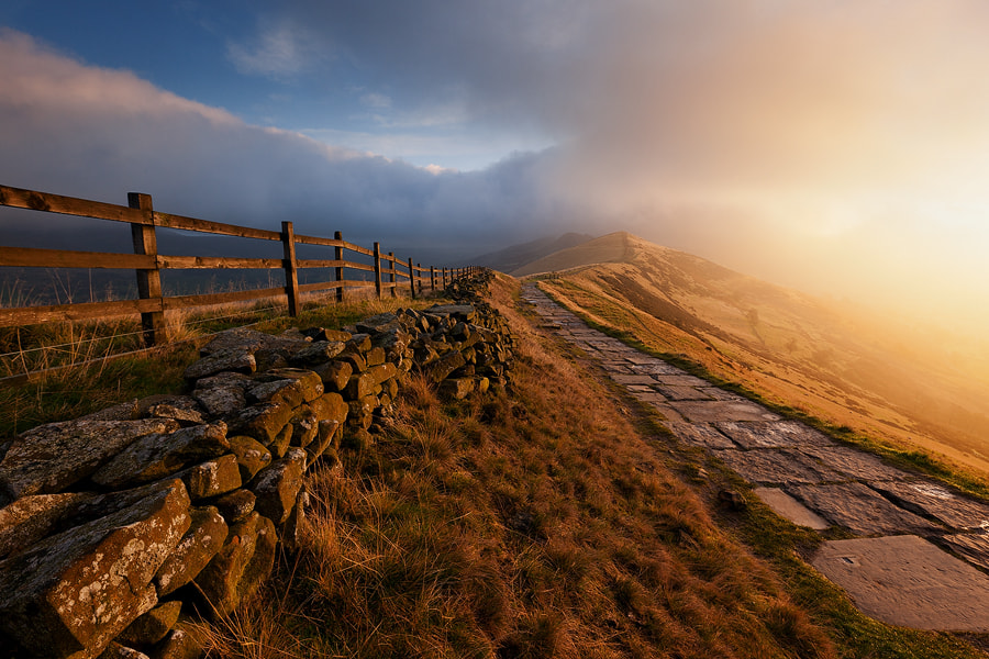 Photograph Mam Tor Gold by Harsharn  Gill on 500px