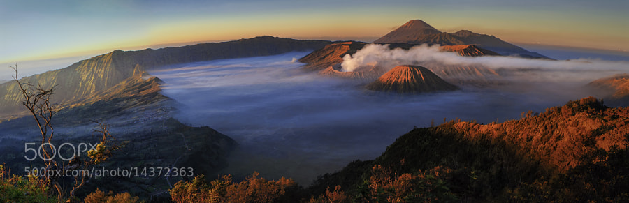 Photograph Mt. Bromo Panoramic View by Anuparb Papapan on 500px