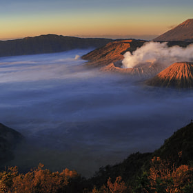 Mt. Bromo Panoramic View by Anuparb Papapan (poron)) on 500px.com