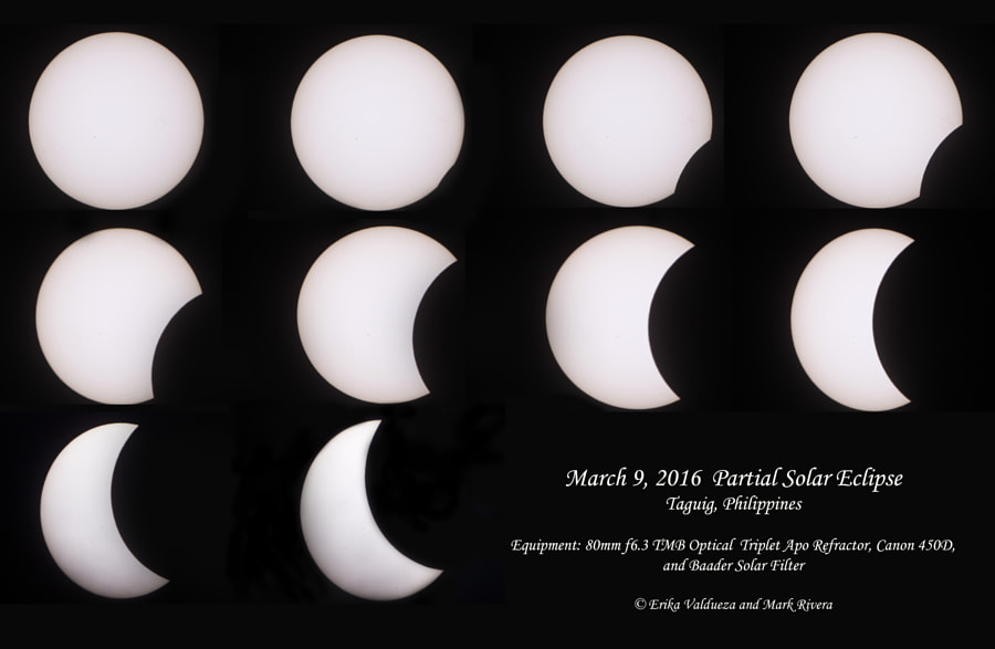 March 9, 2016 Partial Solar Eclipse by erika valdueza on 500px.com