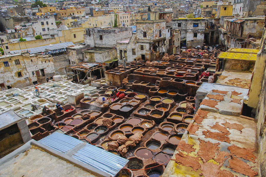 Chouaras tanneries from Fez, Morocco by Marian Poară on 500px.com