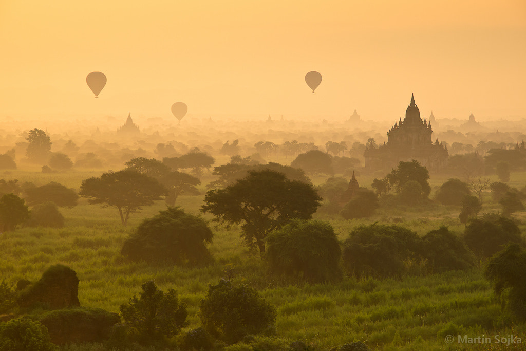 Photograph Bagan Balloons ~ Myanmar (Burma) by Martin Sojka on 500px