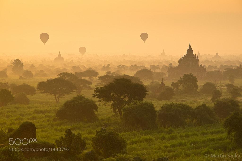Photograph Bagan Balloons ~ Myanmar (Burma) by Martin Sojka on 500px