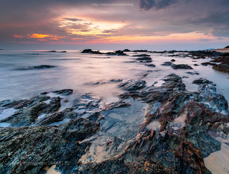 Photograph Red,orange,yellow,rocks,sea by Ahmad  Fahmi  on 500px