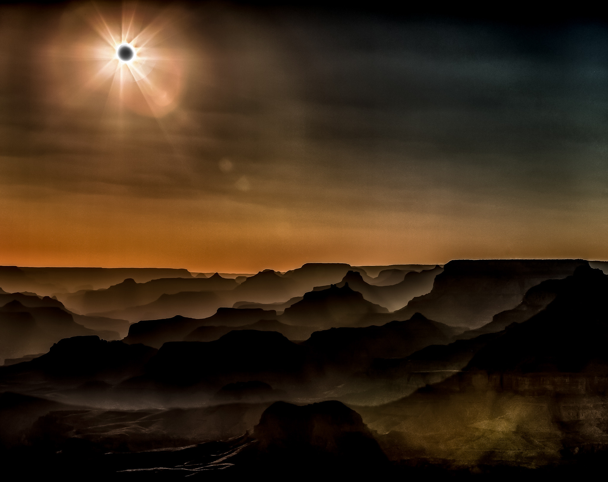 Photograph Grand Canyon Solar Eclipse by Dave Wright on 500px