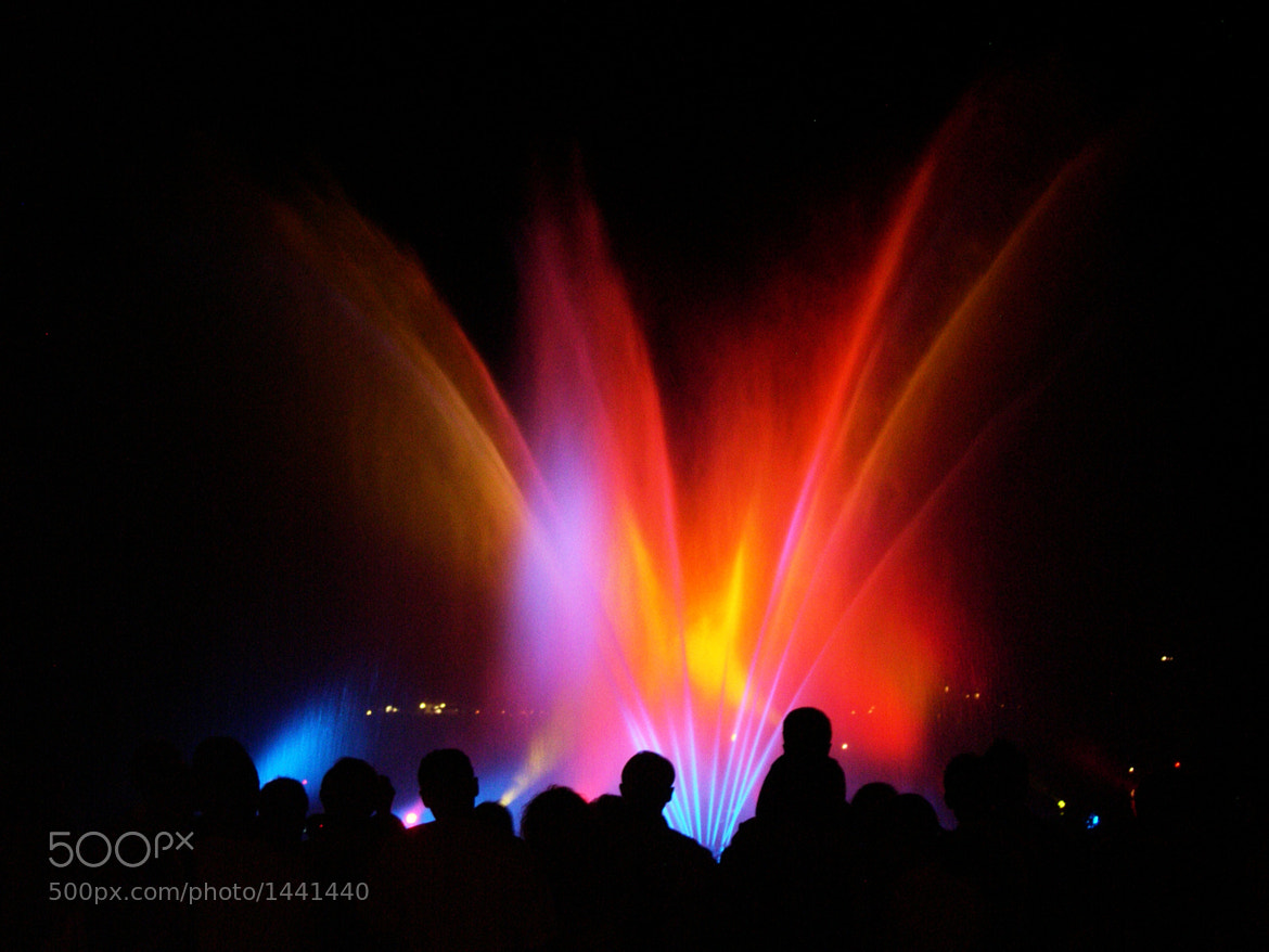 Photograph Coloured lights and waterworks by Roberto Picco on 500px