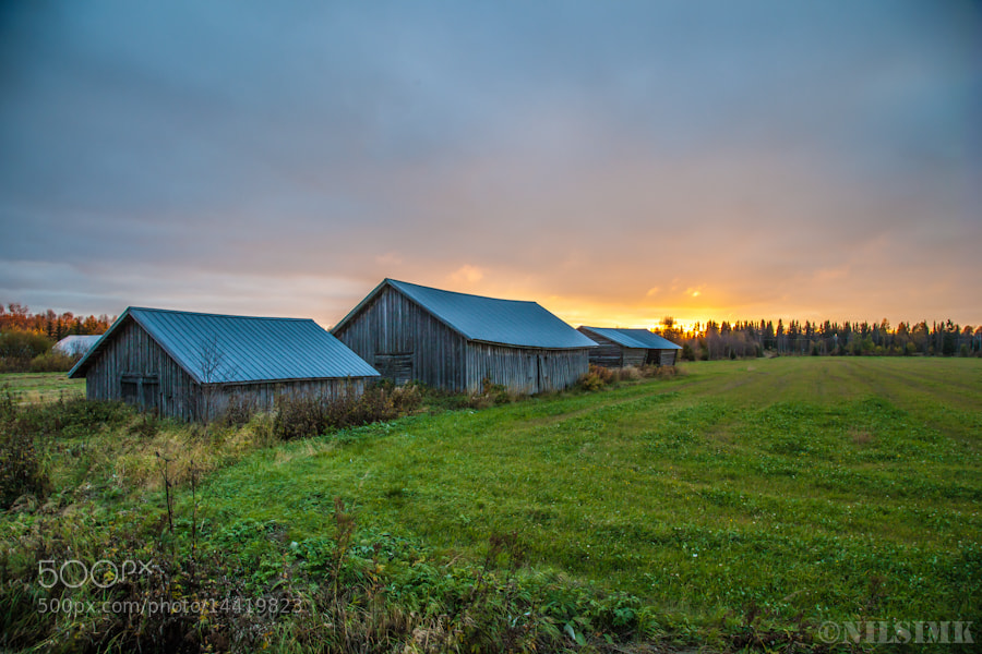 Photograph Barns by Nils Korkeamäki on 500px