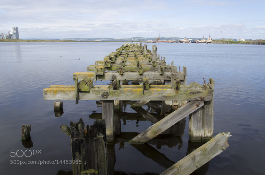 Old jetty/Pier at Leith in Scotland.