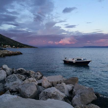Bol, Croatia - Sunset & Boat