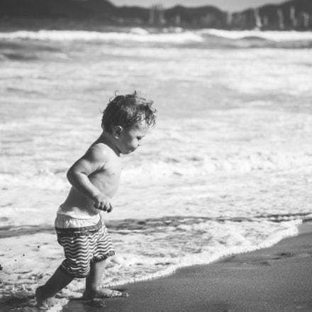 Escapando del agua...