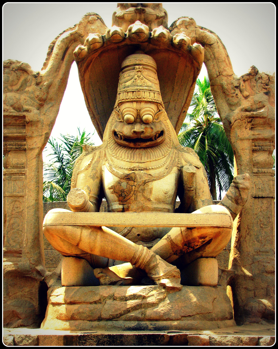Photograph Statue of Ugra Narsimha , Hampi by Chetan Sandhir on 500px