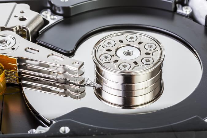 An Open Computer Hard Drive