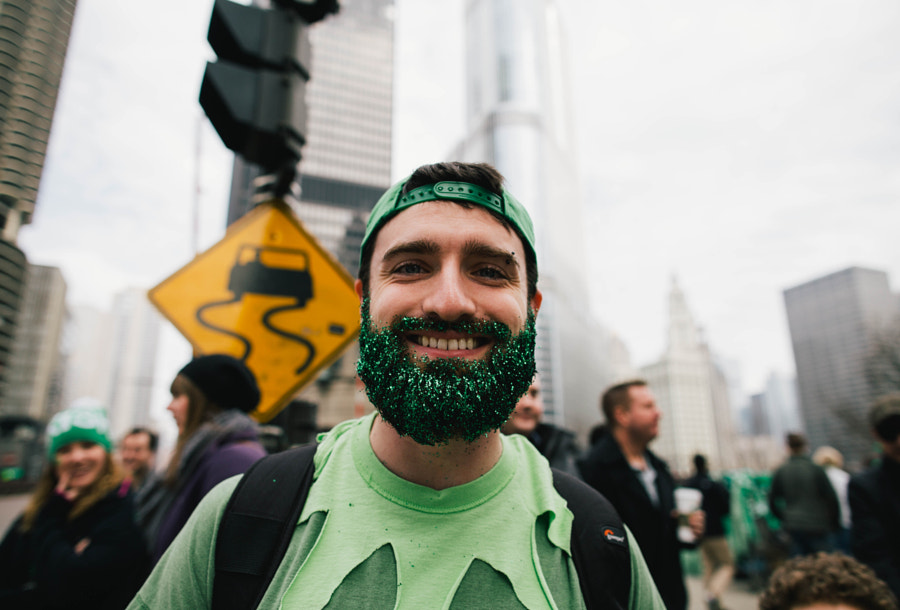 St Patrick's Day beard by Caleb Zahm on 500px.com
