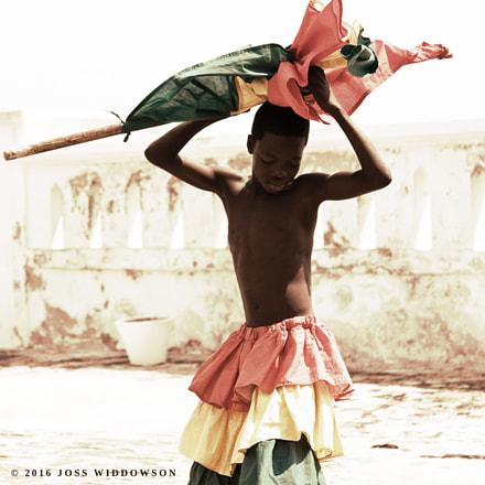 Ghanaian Flag Dancer at Cape Coast Castle 1