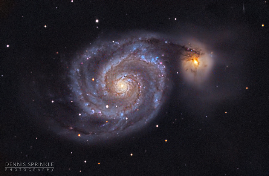 M51 - Whirlpool Galaxy by Dennis Sprinkle on 500px.com
