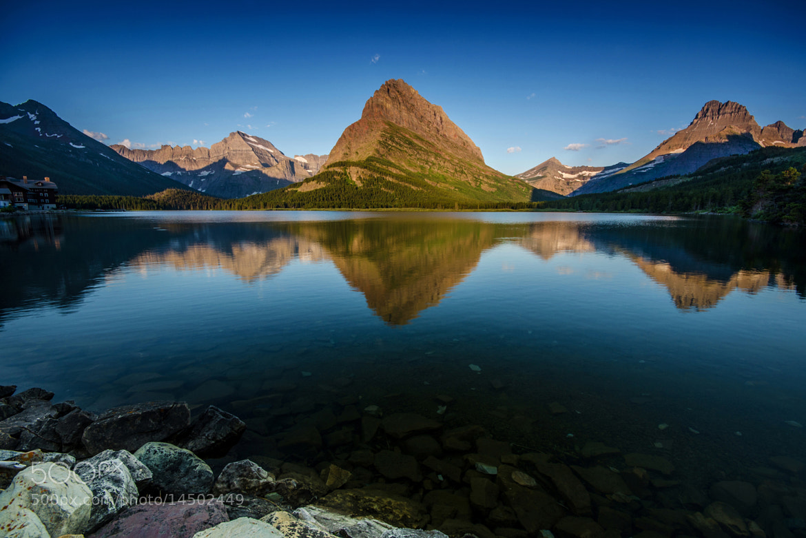 Photograph Mt. Grinnell and Swiftcurrent Lake  by Nae Chantaravisoot on 500px