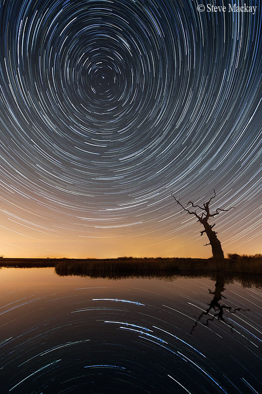 Photograph Star Trail Reflections by Steve Mackay on 500px