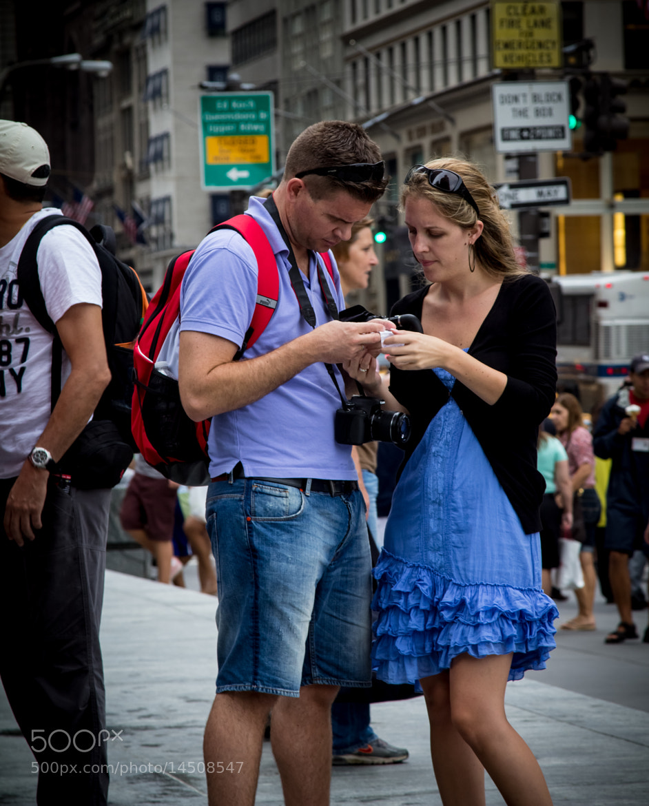 Photograph Couple Check Directions in NYC by Scott Nelson on 500px