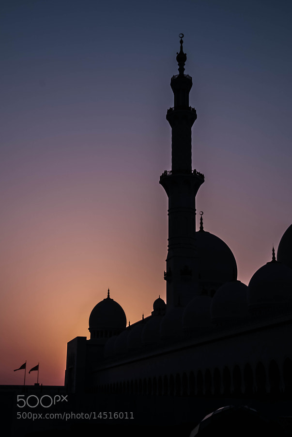 Photograph The Grand Mosque, Abu Dhabi at Dusk by julian john on 500px