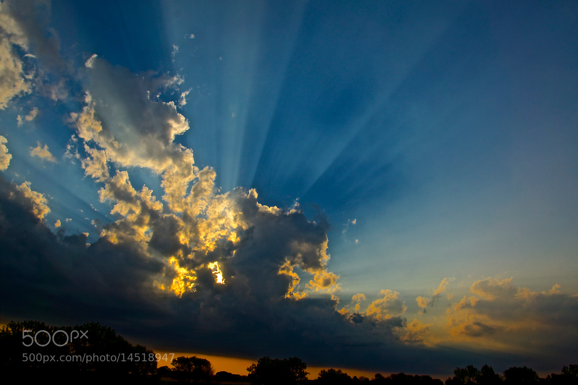Photograph rays of light in summer sky by Danny du Plessis on 500px