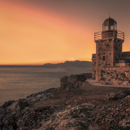 An old lighthouse in the first light of the day