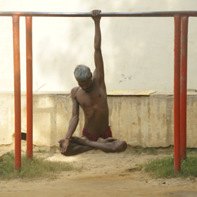 Yoga Veranasi India by Brian Hunter
