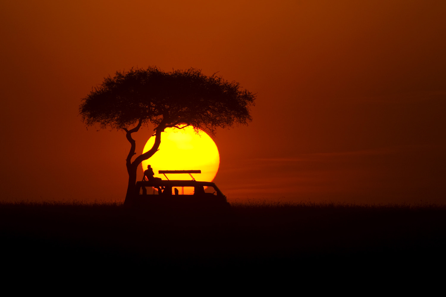 Photograph African sunset by Burak Dogansoysal on 500px