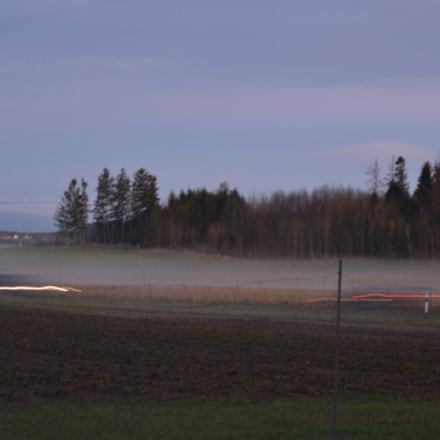 Fahrt unter Nebel